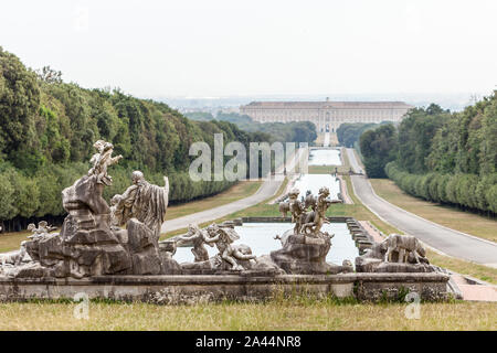 Royal Palace of Caserta It was the largest palace erected in Europe during the 18th century, like to Versailles Palace - Stock Photo