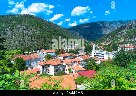 Oldest town in Neretva Canton of Bosnia and Herzegovina. Archeological area has been settled since ancient times. - Stock Photo