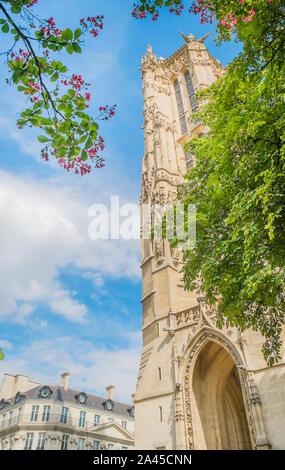 Saint-Jacques Tower, Tour Saint-Jacques - Stock Photo