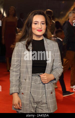 London, UK. 11th Oct, 2019. Anastasia Dymitrow attends the 'Rocks' UK Premiere during the 63rd BFI London Film Festival at the Odeon Luxe Leicester Square in London. Credit: SOPA Images Limited/Alamy Live News - Stock Photo