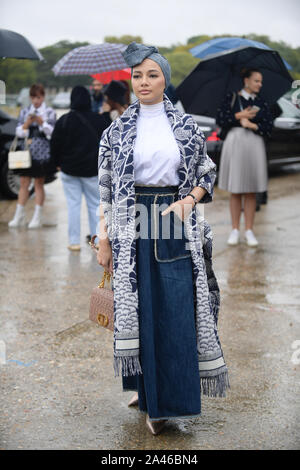 Malaysian actress Noor Neelofa binti Mohd Noor, better known by her stage name Neelofa or Lofa, attends the Christian Dior Womenswear Spring/Summer 20 - Stock Photo