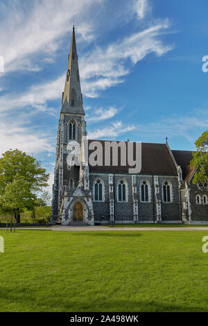 COPENHAGEN, DENMARK - MAY 25, 2017: St. Alban's Church, locally often referred to simply as the English Church, is an Anglican church in Copenhagen, D - Stock Photo