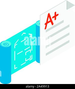 Planning construction icon, isometric style - Stock Photo