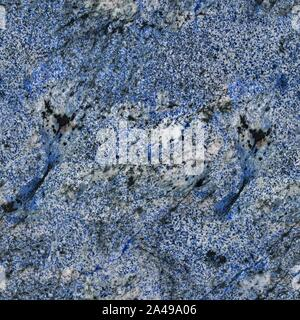 Saturated blue granite texture with patterns. Seamless square background, tile ready. - Stock Photo