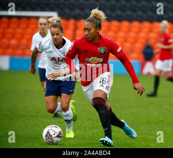 London, UK. 13th Oct, 2019. LONDON, UNITED KINGDOM OCTOBER 13. during Barclays FA Women's Super League between Tottenham Hotspur and Manchester United at The Hive Stadium, London, UK on 13 October 2019 Credit: Action Foto Sport/Alamy Live News - Stock Photo