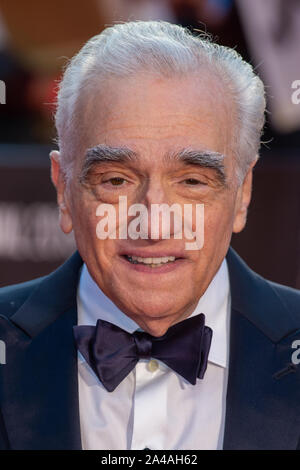 London, UK. 13 October 2019. Martin Scorsese attends the 'The Irishman', BFI London Film Festival closing night gala held at the Odeon Luxe, Leicester Square. Credit: Peter Manning/Alamy Live News - Stock Photo