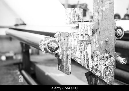 Fabric weaving and coating machinery - Stock Photo