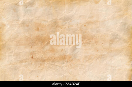 Old spotted paper template. Vintage manuscript texture or background - Stock Photo