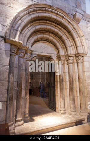 Monastery of Leyre,  Romanesque architecture in Navarre, Spain - Stock Photo