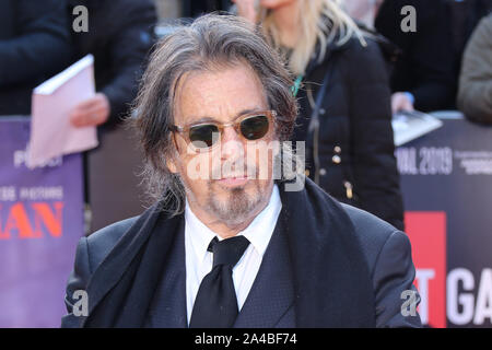 Al Pacino, The Irishman - Closing Night Gala, BFI London Film Festival, Leicester Square, London, UK, 13 October 2019, Photo by Richard Goldschmidt - Stock Photo