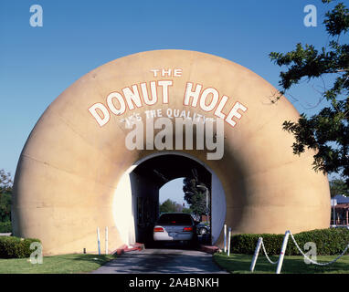 The Donut Hole drive-through stand in La Puente in Los Angeles County, California - Stock Photo