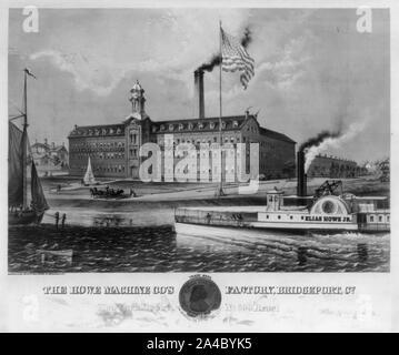 The  Howe machine co's  factory, Bridgeport, Co - Stock Photo
