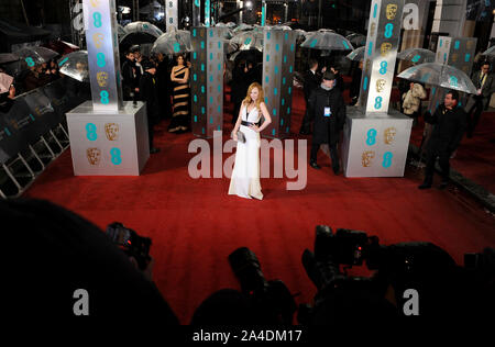Photo Must Be Credited ©Jeff Spicer/Alpha Press 076876 10/02/2013  Juno Temple EE BAFTA British Academy Film Awards 2013 Royal Opera House London - Stock Photo