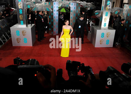 Photo Must Be Credited ©Jeff Spicer/Alpha Press 076876 10/02/2013  Marion Cotillard EE BAFTA British Academy Film Awards 2013 Royal Opera House London - Stock Photo