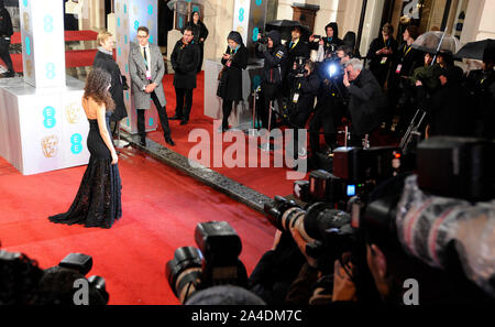 Photo Must Be Credited ©Jeff Spicer/Alpha Press 076876 10/02/2013  Thandie Newton EE BAFTA British Academy Film Awards 2013 Royal Opera House London - Stock Photo