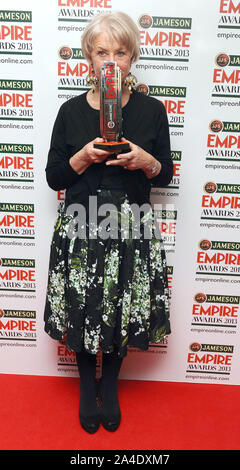 Photo Must Be Credited ©Kate Green/Alpha Press 077037 24/03/2013 Helen Mirren   Jameson Empire Film Awards 2013 Grosvenor Hotel London - Stock Photo