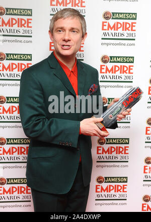 Photo Must Be Credited ©Kate Green/Alpha Press 077037 24/03/2013 Martin Freeman Jameson Empire Film Awards 2013 Grosvenor Hotel London - Stock Photo
