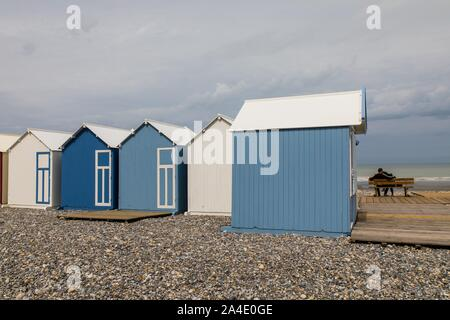 THE BEACH OF CAYEUX SUR MER, (80) SOMME, PICARDY, HAUTS-DE-FRANCE, FRANCE - Stock Photo