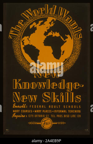 The  world wants new knowledge - new skills - Stock Photo