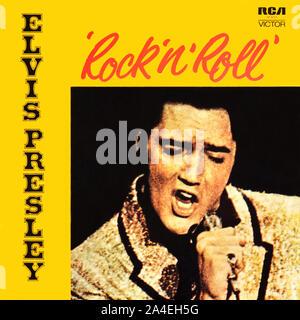 Elvis Presley original vinyl album cover - Rock 'n' Roll - 1972 - Stock Photo