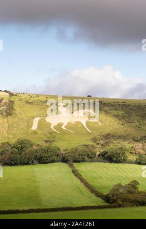 osmington chalk white horse - Stock Photo