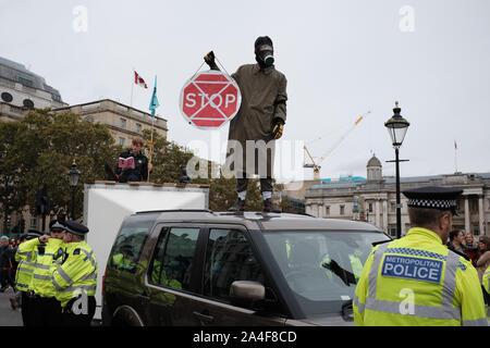 Extinction Rebellion protest in London. - Stock Photo