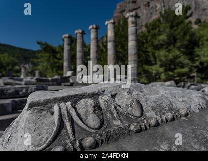 priene ancient city soke Aydin, - Stock Photo