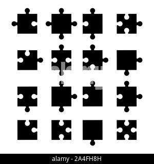Puzzle icon set . vector illustration - Stock Photo