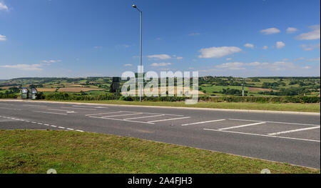 Colerne and the By Brook valley, seen from the A4 road at Rudloe, between Box and Corsham. - Stock Photo