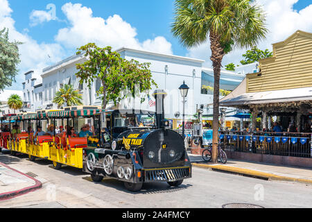 Key West, Florida, USA - September 12, 2019: Quiet Street In Key West Florida USA - Stock Photo