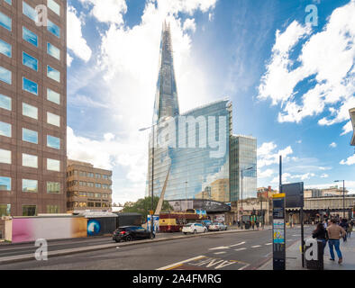 The shard tower by London Bridge in a sunny day