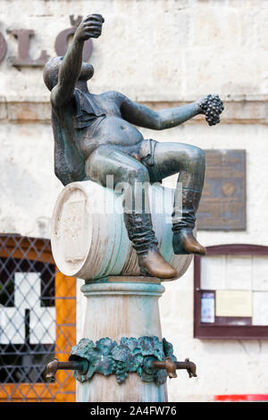 central square in Tokaj, Hungary - Stock Photo