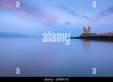 Reculver Towers on the North Kent coast; a medieval church and the site of a Roman fort. - Stock Photo