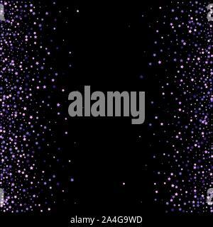 Violet glitter on dark transparent background. Vector illustration - Stock Photo