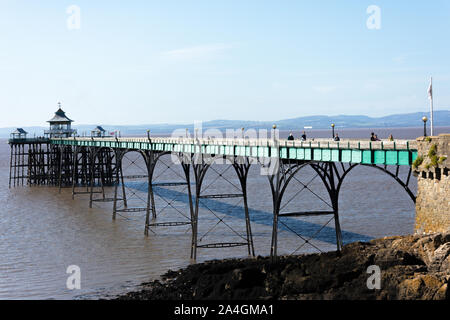 Clevedon Beach and Pier, Clevedon, Somerset, England, United Kingdom