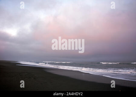 CA03675-00...CALIFORNIA - Early morning at Gold Bluffs Beach, located on the California Coast Trail in Prairie Creek Redwoods State Park. - Stock Photo