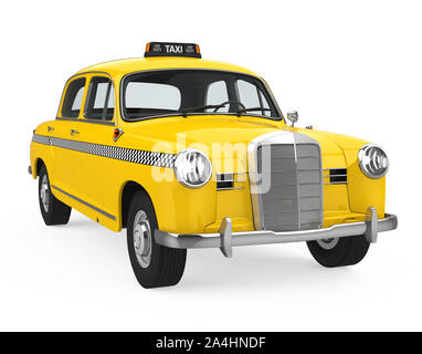Vintage Taxi Isolated - Stock Photo