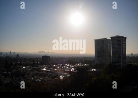 Los Angeles, CA, USA. 5th Oct, 2019. The downtown skyline on Saturday October 5, 2019 in Los Angeles, CA.Copyright Paul Kitagaki Jr. Ã' © 2019. Credit: Paul Kitagaki Jr./ZUMA Wire/Alamy Live News - Stock Photo