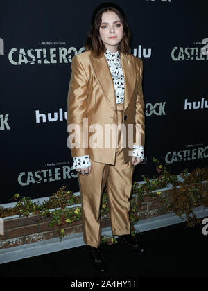 WEST HOLLYWOOD, LOS ANGELES, CALIFORNIA, USA - OCTOBER 14: Actress Elsie Fisher arrives at the Los Angeles Premiere Of Hulu's 'Castle Rock' Season 2 held at AMC Sunset 5 on October 14, 2019 in West Hollywood, Los Angeles, California, United States. (Photo by Xavier Collin/Image Press Agency) - Stock Photo