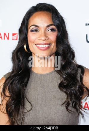 Hollywood, United States. 14th Oct, 2019. HOLLYWOOD, LOS ANGELES, CALIFORNIA, USA - OCTOBER 14: Actress Rosario Dawson arrives at the Los Angeles Premiere Of Saban Films' 'Jay and Silent Bob Reboot' held at the TCL Chinese Theatre IMAX on October 14, 2019 in Hollywood, Los Angeles, California, United States. (Photo by David Acosta/Image Press Agency) Credit: Image Press Agency/Alamy Live News - Stock Photo