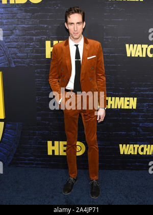 October 14, 2019, Hollywood, California, USA: Dustin Ingram attends the HBO Series Premiere of the Watchmen. (Credit Image: © Billy Bennight/ZUMA Wire) - Stock Photo