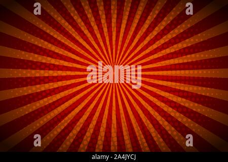 Background with retro rays. Vintage backdrop, boom, comic, circus pattern. Cartoon pop art template. Vector illustration - Stock Photo