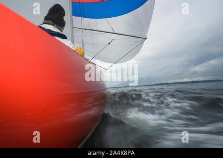 Sailboat Moving - Stock Photo