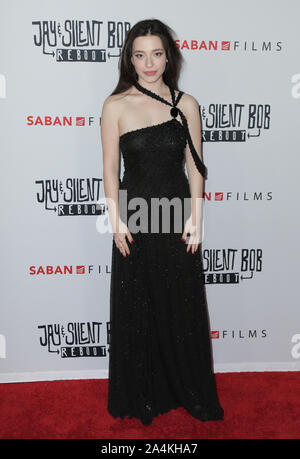 14 October 2019 - Hollywood, California -Mikey Madison. Premiere of Saban Films' 'Jay & Silent Bob Reboot' held at TCL Chinese Theatre. Photo Credit: PMA/AdMedia /MediaPunch - Stock Photo