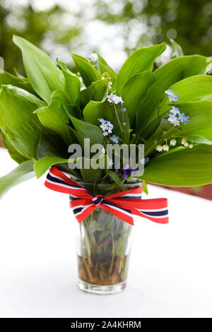 A 17th of May bouquet - Stock Photo