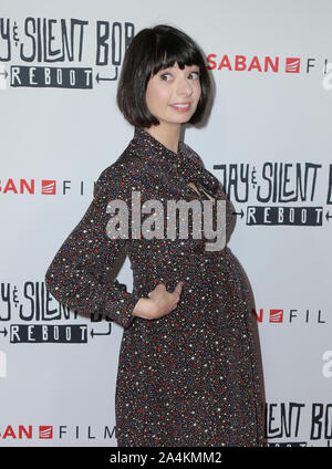 Hollywood, California, USA. 14th Oct 2019. 14 October 2019 - Hollywood, California - Kate Micucci. Premiere of Saban Films' 'Jay & Silent Bob Reboot' held at TCL Chinese Theatre. Photo Credit: PMA/AdMedia /MediaPunch Credit: MediaPunch Inc/Alamy Live News - Stock Photo