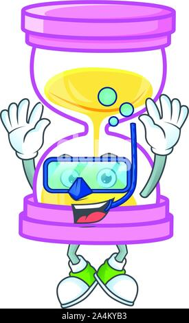 Diving the sandglass for a deadline calculate. - Stock Photo