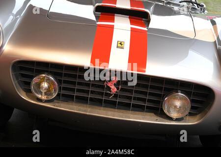 MUGELLO, IT, October, 2017: Vintage Ferrari 250 GT Berlinetta Passo Corto 1961 at Paddock Show of Ferrari Anniversary 1947-2017 in Mugello Circuit - Stock Photo