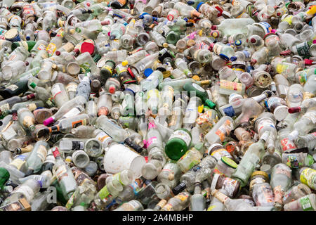 Glas Bottle recycling yard - Stock Photo