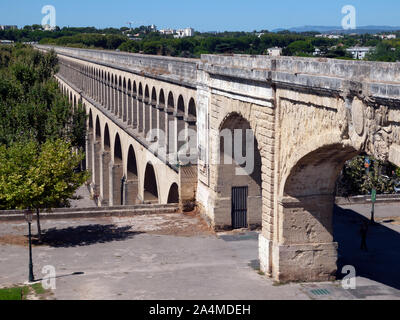 The Saint Clement Aqueduct in Montpellier - Stock Photo